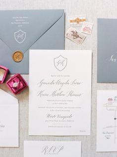 Gray wedding invitation suite | Photography: Jasmine Lee - http://jasmineleephotography.com/