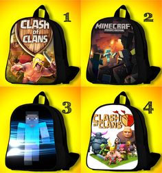 d9f40d32a1f7 Clash of Clans Minecraft BackPack Bags for by MissionBackpack