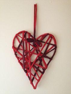 Heart Decoration using Cha Cha Wool