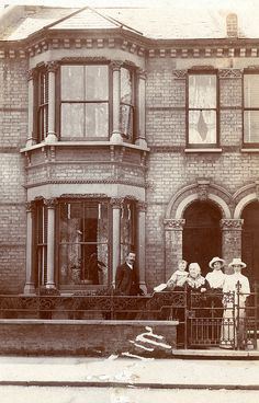 Edwardian terrace house by lovedaylemon, Antique Photos, Vintage Pictures, Vintage Photographs, Old Pictures, Old Photos, Edwardian House, Edwardian Era, Victorian Homes, Victorian Era