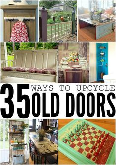 35 Ways To Upcycle Old Doors. These DIY Door ideas are so brilliant! Click now!