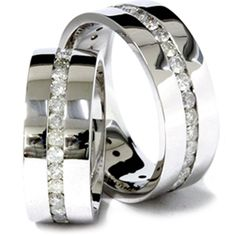 REAL 3.00CT HUGE DIAMOND COMFORT FIT FLAT MENS WOMENS ETERNITY WEDDING RING BAND