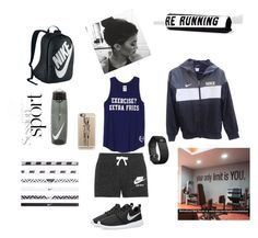 """Work out"" by kaitlyn-ogg on Polyvore featuring NIKE, Fitbit, Casetify, Running Bare, women's clothing, women, female, woman, misses and juniors"