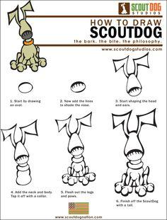 How to Draw Dogs … ScoutDog Download How to Draw ScoutDog (PDF)
