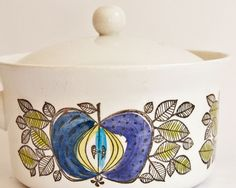 Rorstrand Sweden, Eden - lidded saucepan (Eden pattern designed by Marianne Westman.  LOVE it!)