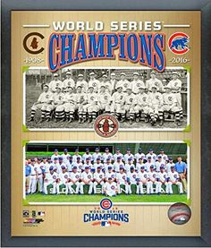 Chicago Cubs 1908 & 2016 World Series Champions Composite Sports Photo - 20 x 25 cm Chicago Cubs World Series, Cubs Win, Go Cubs Go, Chicago Cubs Baseball, Personalized Photo Gifts, Mlb Teams, Sports Teams, My Kind Of Town, Team Photos