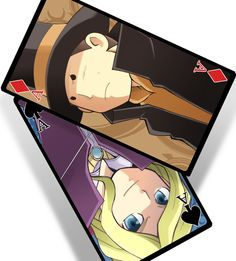 Layton:Cards by RokusukeTanaka.deviantart.com on @DeviantArt The Professor and Anton