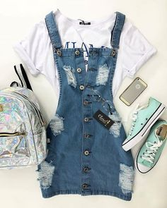 Teenager Outfits - Welcome Pikide Cute Outfits For School, Cute Casual Outfits, Swag Outfits, Mode Outfits, Cute Summer Outfits, Outfits For Teens, Pretty Outfits, Stylish Outfits, Baby Outfits