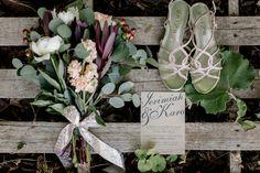 Banbury Wedding, Rustic Wedding Bouquet + Wedding Stationary, Wedding Lay-flat Ideas LYSSA ANN PORTRAITS, www.lyssaannportraits.com