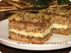 Romanian Desserts, Romanian Food, Cake Recipes, Dessert Recipes, Food Cakes, Something Sweet, Delicious Desserts, Sweet Treats, Food And Drink