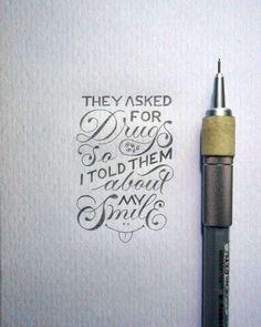 Lettering em miniatura