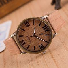 Vintage Wood Grain Watches for Men Women Casual Fashion Quartz Watch Faux Leather Unisex Wristwatches relogio masculino Vintage Stil, Mode Vintage, Vintage Wood, Vintage Leather, Casual Watches, Cool Watches, Watches For Men, Women's Watches, Luxury Watches