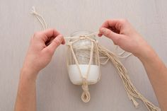 Make These Boho Chic Hanging Macrame Vases via Brit + Co.