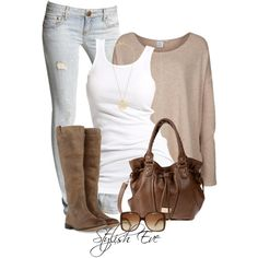 A fashion look from September 2013 featuring Somedays Lovin sweaters, Soaked in Luxury tops and Free People jeans. Browse and shop related looks.