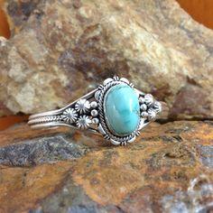 ~ Carico Lake Turquoise Sterling Silver Cuff Bracelet ~ | blackarrowgallery.com