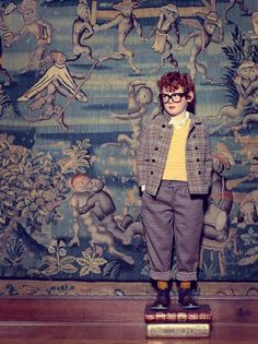 If I ever spawn, you better bet my spawn will be forced into outfits like this. (from Marie Claire Enfant) (and who knew there was such a thing)