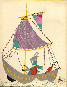 1962 Vintage illustration for Sailor and Pirate Theme, by Ignacy Witz, image via Look At These Gems: Ignacy Witz