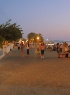 #Paros #Greece  Aliki by night