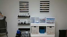 Black and white Esthetician room Facial Room, Scalp Micropigmentation, Esthetician Room, Beauty Lounge, Facials, Eyebrow, Photo Wall, Spa, Rooms