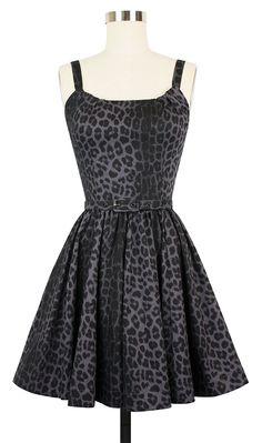 Trashy Diva Annette Mini Dress | 1950s Inspired Dress | Smoke Leopard