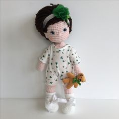 Adorable baby crochet doll Nathaliesweetstitches