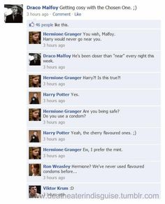 Harry Potter Facebook 'Getting Cozy with the Chosen One'... Oh MY!!! :ox