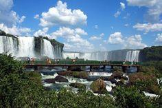 Iguassu Falls, bordering Argentina and Brazil