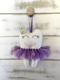 Personalized Tutu Tooth Fairy Pillow with by RubyLewisDesigns