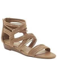 1dfa5a4c40f3d1 Gorgeous wedge sandals from Spendless Shoes - and so comfy too!