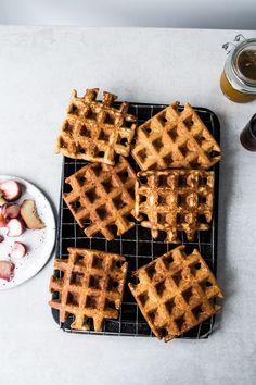 Crispy Sourdough Waffles | Top With Cinnamon