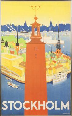 Stockholm Vintage Travel Poster