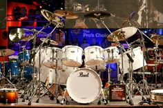 Love white, love pearl drums