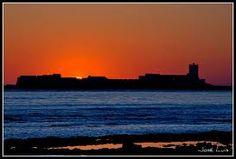 la mejor puesta de sol en chiclana. Castillo de sancti petri
