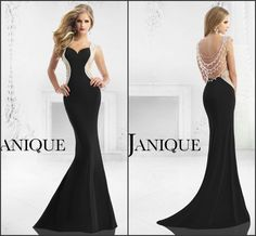 2015 Sheath Backless Evening Dresses Beading Crystal Satin Sexy Long Party Trumpet Mermaid Prom Pageant Dresses Gowns Designer by Janique, $124.17 | DHgate.com