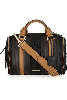 Burberry Prorsum Nevinson leather bowling bag
