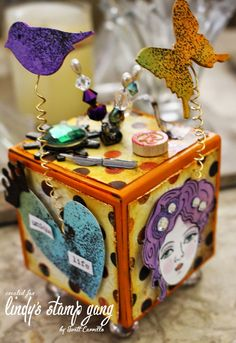 Carrillo Designs: Odyssey of the Mind {for Lindy's Stamp Gang} Altered Boxes, Altered Art, Odyssey Of The Mind, Cigar Box Crafts, Box Art, Art Dolls, Decorative Boxes, Artsy, Mindfulness