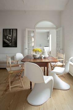 Moderne Stühle Esszimmer Weiße Stühle Schöner Holzboden