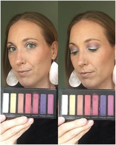 Younique Addiction Palette 5-simple eye shadow, yet bold eye look #unicorn