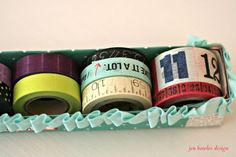 Washi tape holder from wax paper box