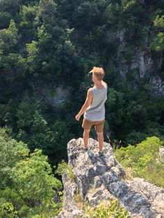Hiking on Mt. Olympus, Litochoro, Greece. Entered a canyon between the mountains, views were freaking amazing!