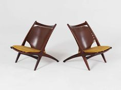Set of 2 Hunting Chairs by Frederik Kayser - Model