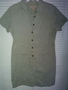 Telluride Clothing Company 100% cotton button down denim dress Size 12 Gray in Clothing, Shoes & Accessories | eBay