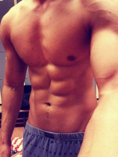 Six pack abs selfie no face