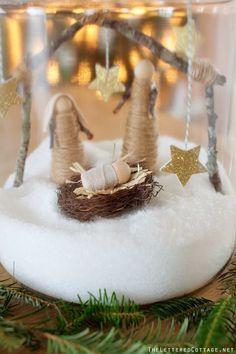 Christmas Cookie Jar Craft | Epsom Salt | Nativity...but in a terrarium