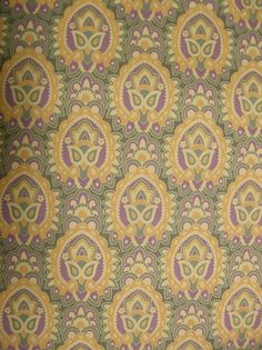 Love this wallpaper, the design is one that would be great as fabric as well-  Vintage Wall Paper Boho Indian Mod Retro 1970s Bohemian hippie retro