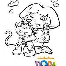 Coloriage Dora En Ligne In 2020 Dora Coloring Coloring Pages