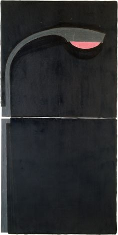 Donald Sultan, Street Light, February 7, 1982. oil, spackle, and tar on vinyl tile on masonite, 97 3/4 x 48 5/8 inches