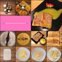 VEGGIE FRIDAY:  Süße Grießschnitten mit Pfirsichsauce  Süßmäulchen freut sich!  | Das Leben ist zu kurz, um schlechten Wein zu trinken!
