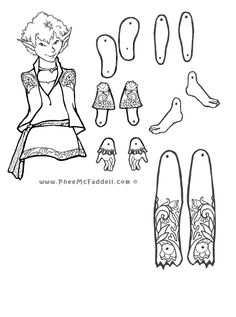 Puck Fairy Puppet to Color, Cut Out, & Assemble