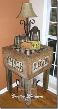 This table was made from FREE pallets.  I love the idea.